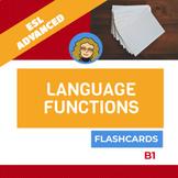 Language functions - Flash cards (B1)