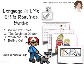 Language in Life Skills Bundle of 4 Resources for Speech Language