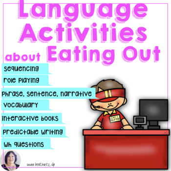 Language in Life Skills Communicating at a Restaurant for Speech Therapy
