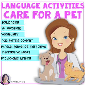 Language in Life Skills Talk About Caring for a Pet for Speech Therapy