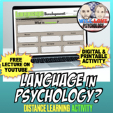 Language in Psychology Activity Bundle