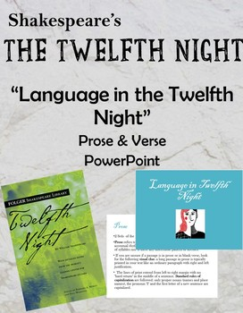 Language in the 12th Night PowerPoint