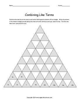 Language of Algebra: Combining Like Terms, Distributive and Properties Bundle