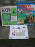 Language of Maps by Rushdoon + DK MAP BOOK + WONDERS of WORLD