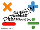 Language of Mathematics Bulletin Board Set