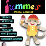 Language of Summer Expressive and Receptive Language Activities