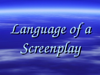 Language of a screenplay