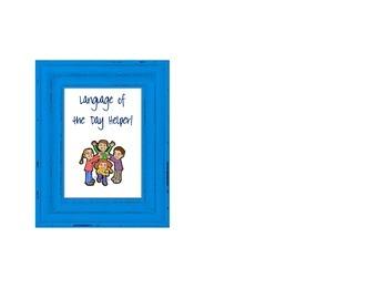 Language of the Day Helper Lanyard Sign-Gomez & Gomez Model