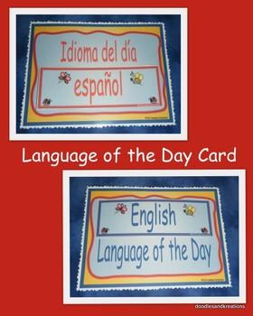 Dual Language-Language of the Day Sign
