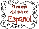 Language of the Day posters (Dual Language)