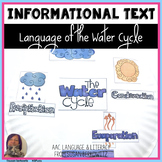Water Cycle Vocabulary Sequencing and Other Language Skills