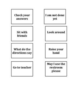 Language prompt cards