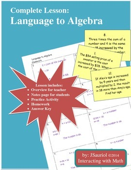 Language to Algebra