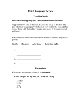 Language/Grammar Quiz #3