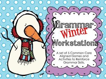 Language/Grammar Winter Workstations {Common Core Aligned}