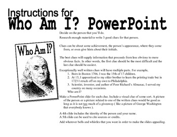 "Language,Social Studies,Computer Project -Teaching with Power Point  ""Who Am I?"""