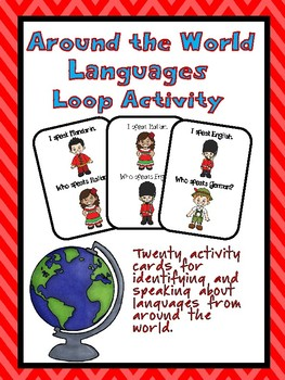 """Languages """"I have..."""" """"Who has...?"""" Activity"""