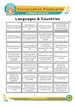 Languages & Nationalities - Conversation Flashcards