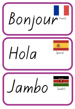 Languages Word Wall