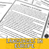 Languages in Europe Reading Activity (SS6G10, SS6G10a)