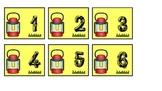 Lantern Calendar Pieces