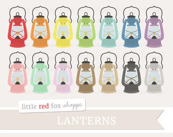 Lantern Clipart; Camping, Lamp, Light