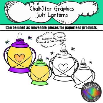 Lanterns July Clip Art –Chalkstar Graphics