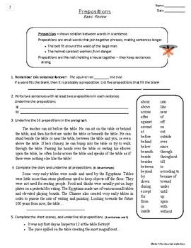 Language Skills: 44 Printable Writing, Grammar, Editing Worksheets (Grades 3-7)
