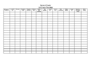 Lanuage arts checklist -4