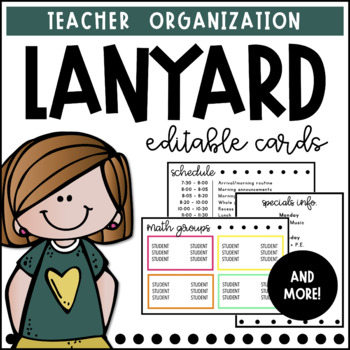 Lanyard Cards   Editable