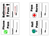 Lanyard Hall Pass Labels (Print, Write, and Go)