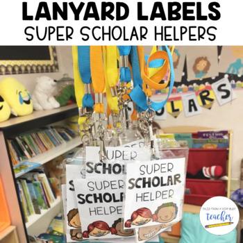 Lanyard Labels {Super Scholar Helpers}