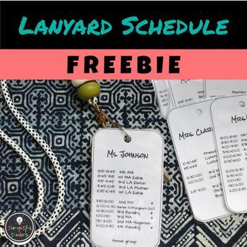 Lanyard Mini-Schedule