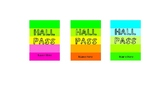 Lanyard Neon Hall Passes - Editable