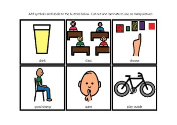 Lanyard Visuals for children with Autism