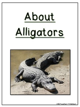"""Lap Book """"About Alligators"""" with Everything you need!"""