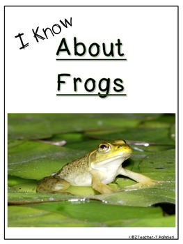 """Lap Book """"About Frogs"""" with Everything you need!"""
