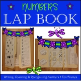 Lap Book Numbers and Counting with ten frames PreK - K
