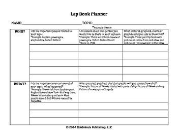 Lap Book Planner