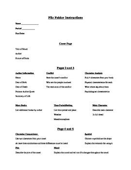 Lap Folder/File Folder Book Report Project