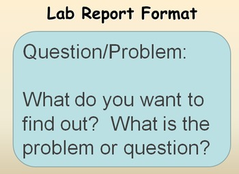 Lap Report Template PowerPoint AND Lab Report Template for Notebooks