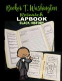 Lapbook Black History Month Book Report research lapbooks Booker T Washington