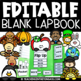 EDITABLE Lapbook Templates for the Whole Year