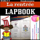 Lapbook - La rentrée scolaire (French, foldable, printables)