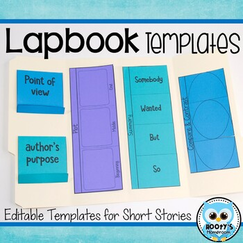 Lapbook Templates for Reading by Hooty\'s Homeroom | TpT