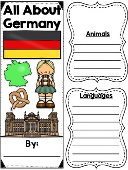 Lapbook for the Country of Germany - Research Project