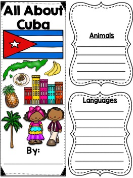 Lapbook for the Country of Cuba- Research Project