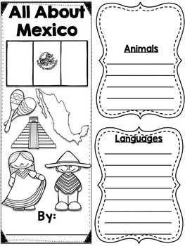 Lapbook for the Country of Mexico Research Project