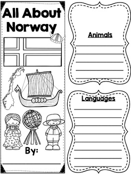 Lapbook for the Country of Norway Research Project