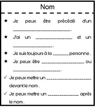 Lapbook sur les classes de mots - Cahier interactif